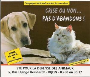Affiche campagne Abandon 2009