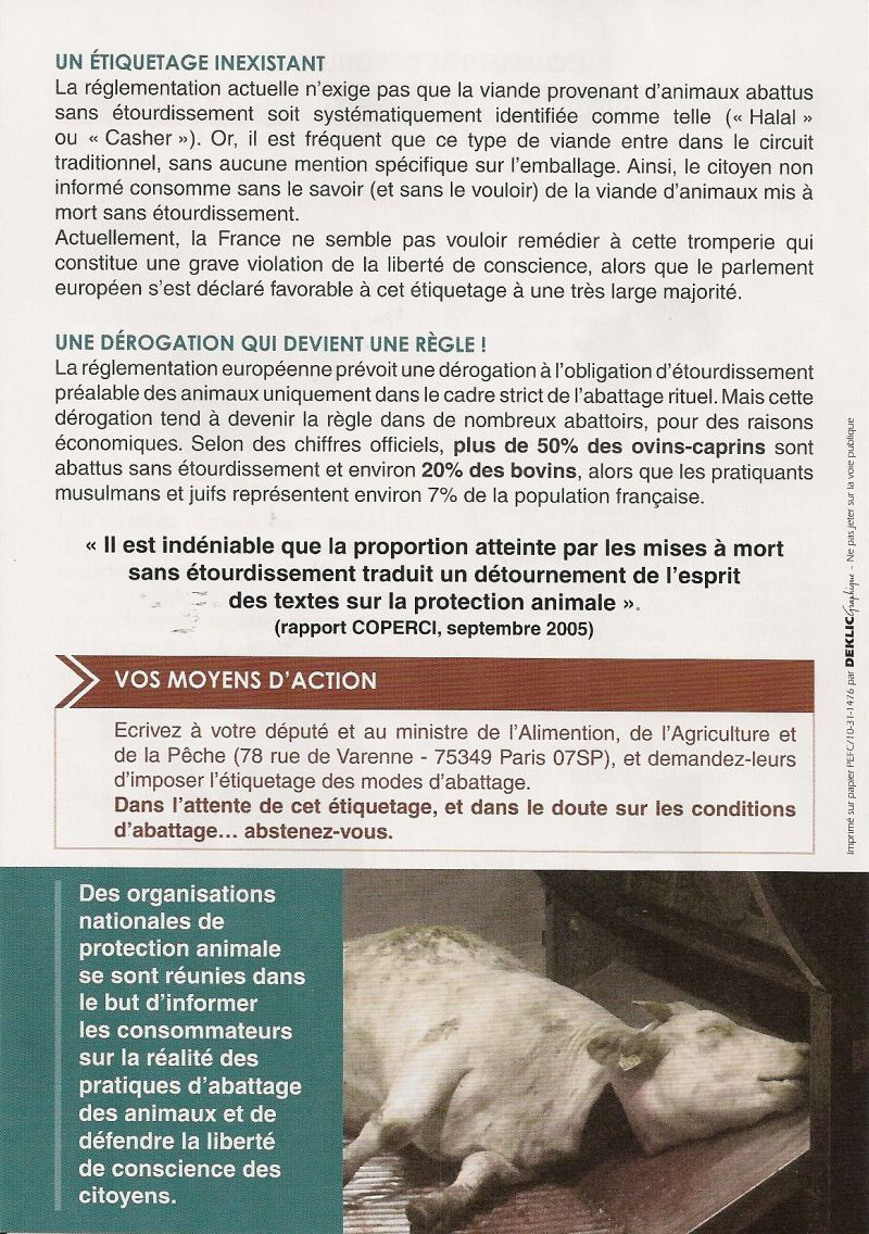 Pour plus d'informations, consultez le site : www.abattagerituel.com