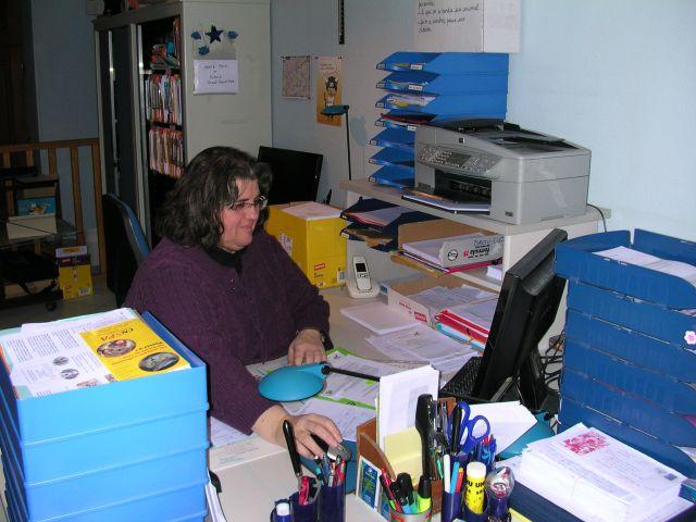 Françoise au secrétariat