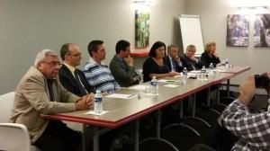 De gauche à Droite :  Dominique Galland, Eric Dumoulin, Frédéric Freund, Laurent Grandguillaume, Nicole Bacqué, François-Xavier Dugourd, Jean-Pierre Kieffer, Christelle Meheu