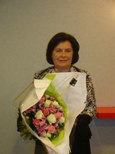 Madame Hasson, présidente de la confédération des SPA de France, empêchée d'assister à la réunion, a tenu à participer en envoyant ce beau bouquet.