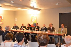 De gauche à droite Francois Xavier Dugourg, Louis De Broissia, Nicole Baqué, Rémi Delatte,Jehan Philippe Contesse, Eric Dumoulin,Fréderic Freund