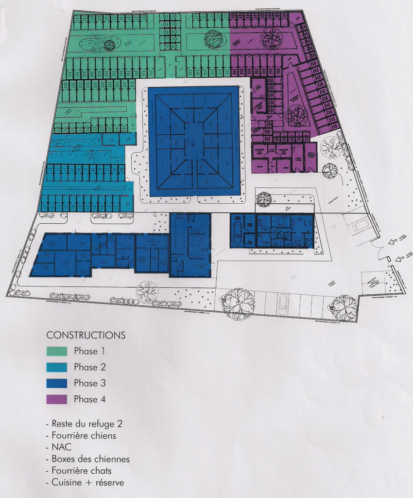 Quatrième phase des travaux - constructions